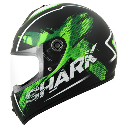 Shark S600 Exit Mat (Pinlock), Zwart-Groen-Wit (1 van 3)