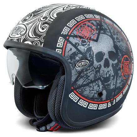 Vintage Skull - Mat zwart-Wit-Rood