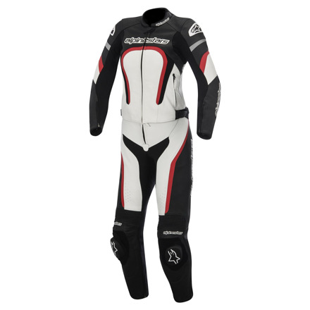 Alpinestars Motegi 2pc combi (Stella/Ladies), Zwart-Wit-Rood (1 van 2)
