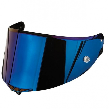 AGV Vizier  Race 2 Pinlock Ready (Pista, Corsa, GT Veloce), Irridium Blauw, anti-kras (1 van 1)
