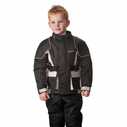 Kids motorjas - Zwart-Zilver
