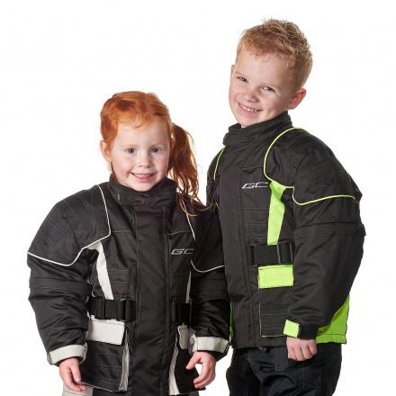 GC Bikewear Kids motorjas, Zwart-Zilver (3 van 3)