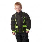 Kids motorjas - Zwart-Fluor