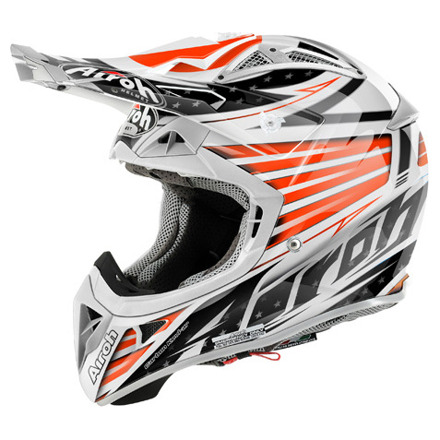 Airoh Helmet Aviator 2.1 Valor, Wit-Oranje (1 van 4)