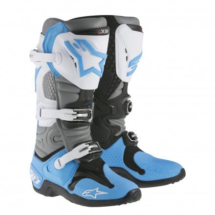 Tech 10 - Wit-Grijs-Blauw