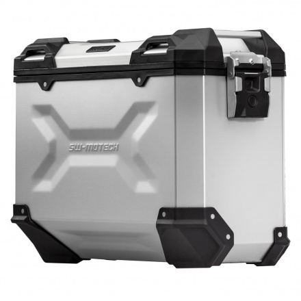 Trax Adventure Alubox Medium 37L, Rechts - Zilver