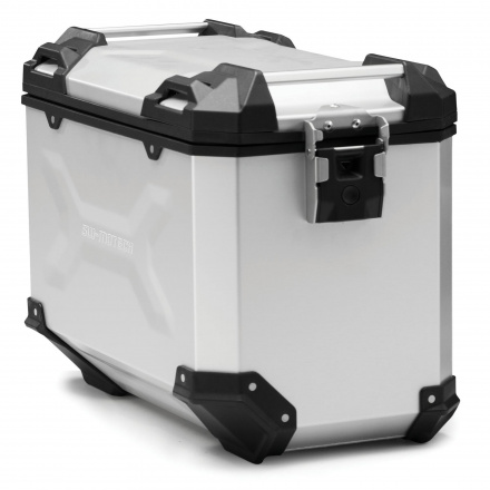 Trax Adventure Alubox Large 45L, Rechts - Zilver
