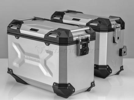 SW-Motech Trax EVO koffersysteem, BMW R 1100/1150 GS. 45/37 LTR., Zilver (1 van 1)