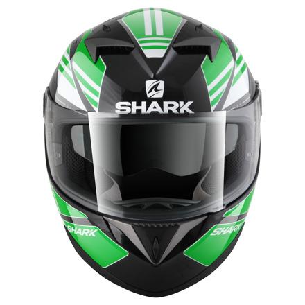 Shark S700 S Pinlock Tika, Zwart-Groen-Wit (3 van 5)