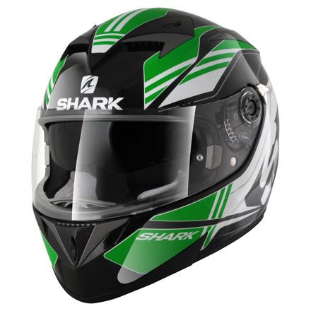 Shark S700 S Pinlock Tika, Zwart-Groen-Wit (1 van 5)