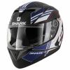 S700 S Pinlock Tika Mat - Mat Zwart-Blauw-Wit