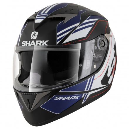 Shark S700 S Pinlock Tika Mat, Mat Zwart-Blauw-Wit (1 van 5)