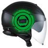 AGV Fluid Pix, Zwart-Groen (Afbeelding 5 van 5)