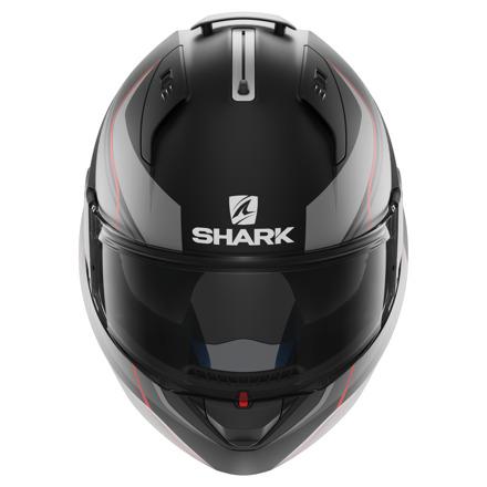 Shark EVO-ONE Krono Mat, Mat Zwart-Antraciet-Rood (2 van 3)