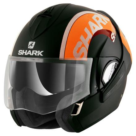 Shark Evoline 3 Drop Mat, Mat Zwart-Oranje (1 van 3)