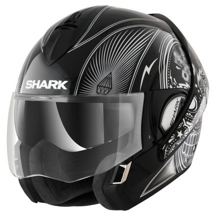Shark Evoline 3 Mezcal Chrome, Zwart-Zilver (1 van 3)