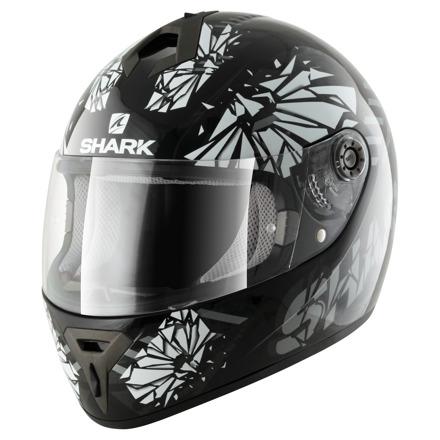 S600 Pinlock Poonky - Zwart-Antraciet-Wit