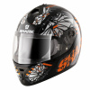 S600 Pinlock Poonky - Zwart-Oranje-Wit
