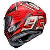 Shoei X-Spirit III Marquez4, Rood-Zwart-Zilver (Afbeelding 2 van 3)