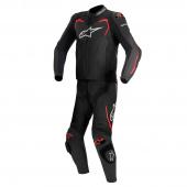 Gp Pro 2pc Lthr Suit - Zwart-Rood