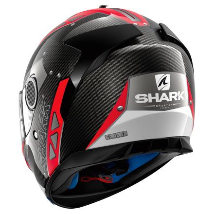 Shark Spartan Carbon Bionic, Carbon-Rood-Wit (2 van 3)
