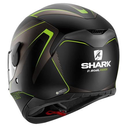 Shark D-Skwal Rakken Mat, Zwart-Antraciet-Groen (2 van 3)