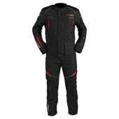 Omega V2 suits (Jack+Pants) - Zwart-Rood