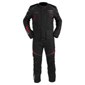 Omega V2 suits (Jack+Pants) - Zwart-Rood
