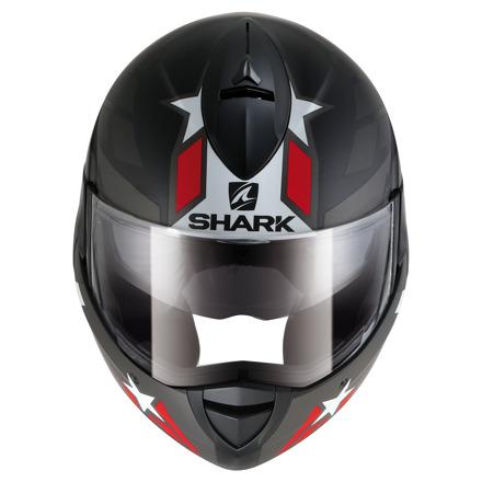 Shark Evoline 3 Strelka Mat, Zwart-Antraciet-Rood (3 van 3)