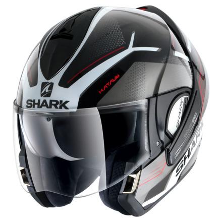 Shark Evoline 3 Hataum, Zwart-Wit-Rood (3 van 4)