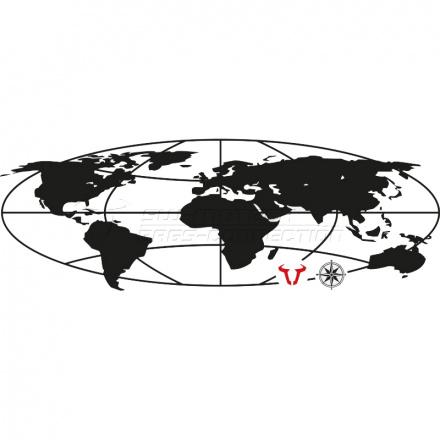 SW-Motech Sticker Trax Evo Globe, N.v.t. (1 van 1)