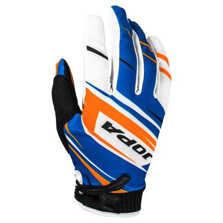 Gloves MX-7 - Blauw-Oranje