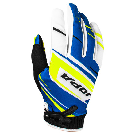 Gloves MX-7 Kids - Blauw-Geel
