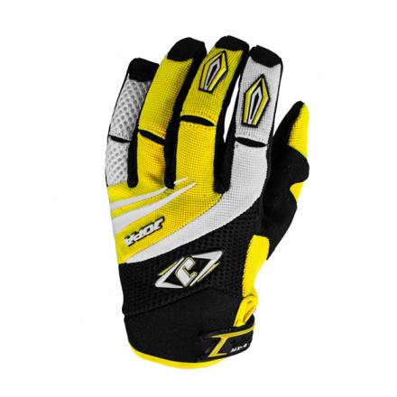 MX-4 Crosshandschoenen - Zwart-Geel