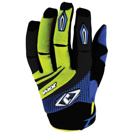 MX-4 Crosshandschoenen - Zwart-Blauw-Geel