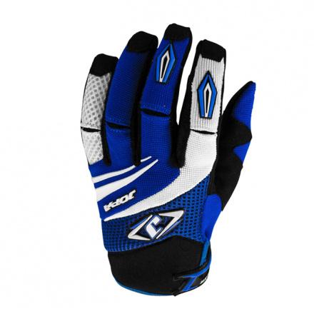 MX-4 Gloves Kids - Zwart-Blauw