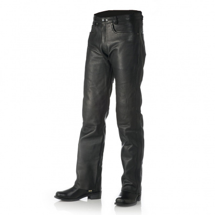Leather Bullet Jeans - Zwart
