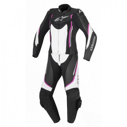 Alpinestars Motegi V2 2pc (Stella/Ladies), Zwart-Wit-Roze (1 van 1)