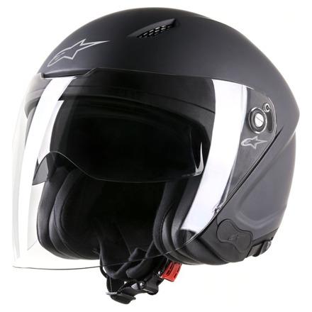 Novus Solid Motorhelm - Zwart