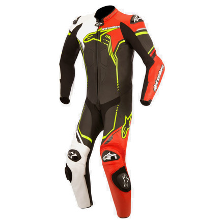 Gp Plus Suit 1delig - Zwart-Wit-Rood