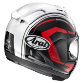 RX-7 V Statement Black Helm - Zwart-Wit-Rood