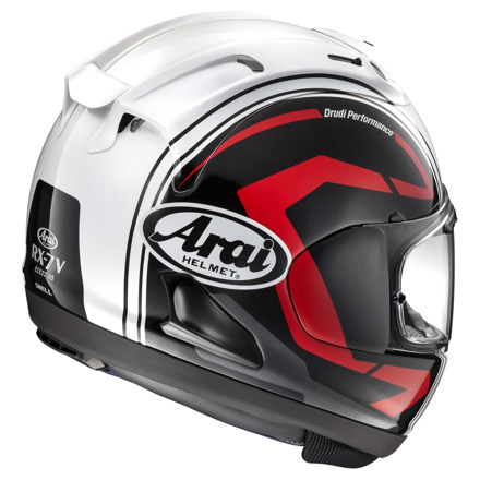 Arai RX-7 V Statement Black Helm, Zwart-Wit-Rood (1 van 2)