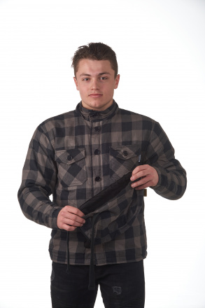 Woodchopper Hoodie - Grijs-Zwart