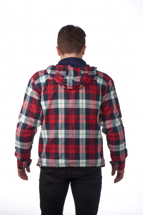 Grand Canyon Woodchopper Hoodie, Rood-Wit-Blauw (2 van 3)