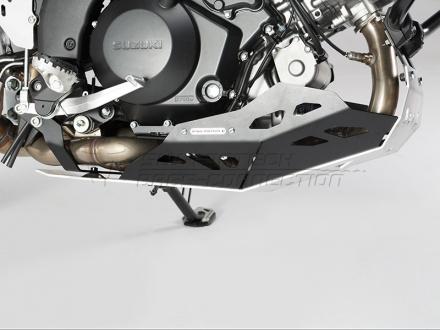 SW-Motech Carterplaat, Suzuki DL 1000 V-Strom ('14-). (motor met valbeugel)., Zilver (2 van 4)