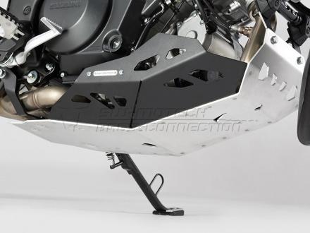 SW-Motech Carterplaat, Suzuki DL 1000 V-Strom ('14-). (motor met valbeugel)., Zilver (1 van 4)