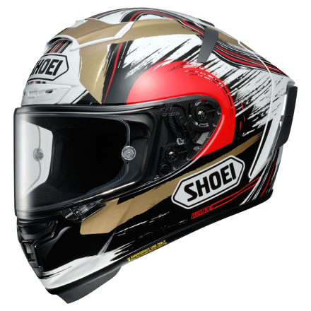 Shoei X-Spirit III Marquez Motegi, Wit-Rood-Goud (1 van 3)