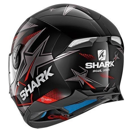 Shark Skwal 2 Draghal, Zwart-Antraciet-Rood (2 van 3)