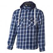 Woodchopper Hoodie - Blauw-Wit