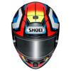 Shoei X-Spirit III Brink, Wit-Blauw-Rood (Afbeelding 2 van 3)